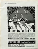 Moroccan National Tourist Office Morocco That's Different Vintage Advert 1964