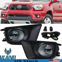 For 2012-2015 Toyota Tacoma Front Bumper Driving Lamps Fog Lights w/Switch Bulbs