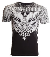 Xtreme Couture AFFLICTION Mens T-Shirt LEGENDARY Skulls BLACK Biker MMA $40