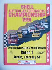 1991 ATCC Sandown Race Program Nissan GTR Johnson Brock Group A Bathurst