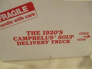 1920's Model T Campbell's Soup Delivery Truck +Soup Cases Danbury Mint 1:24