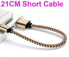 21CM Short Braided Lightning USB Cable Fast Charging Cord iPhone X 8 7 6S Plus 5