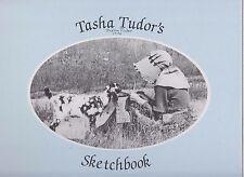 VG 1989 First Edition HC SIGNED Tasha Tudor Sketchbook Jenny Wren Press Corgi