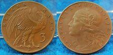 Empreinte de l'échantillon Weimar 3 Mark 1925D Essai de motif en Bronze VS 5 et