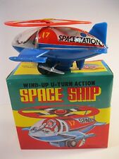 SPACE SHIP WIND-UP U-TURN ACTION 1970's NEW MINT IN ORIGINAL BOX VINTAGE KOREA