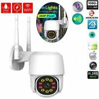IP Camera Wireless Outdoor CCTV HD PTZ Smart Home Security IR Cam 1080P WIFI NEW