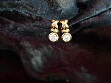 beautiful Earrings / Stud__ Rhinestone__gold plated___Pierre Lang___