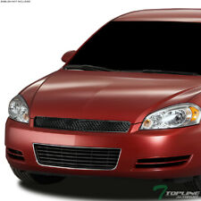 2pcs Black Aluminum Billet Grille Combo Grill Insert Fit 2014-2016 Chevy Impala