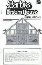 Children BARBIE DREAM HOUSE A-Frame Dollhouse Build Instructions  **EMAIL ONLY**
