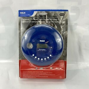RCA RP2910 Portable Personal CD Player FM Radio Tuner Blue Nip!