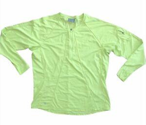 Athleta Highlighter Yellow Green Long sleeve 1/4 zip Active wear top jacket 1X