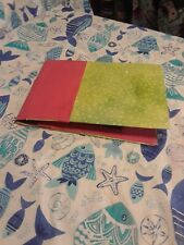 Red And Lime Green Photo Album  With 40 Pages