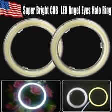2x 60mm Angel eye Halo ring White LED fog headlights 6000K Super