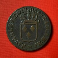 #4901 - Louis XVI Sol 1785 Pau TTB Belle qualité RARE R