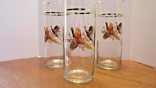 3 - Vintage Tall Glass Cocktail Pitchers  Pheasant Design