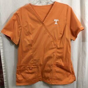 Cherokee Workwear Women's Orange (PUNW) University of Tennessee Mock wrap Size L