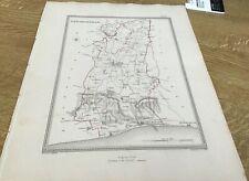 Antique Map New Shoreham Showing Boundary Of Borough By S Lewis C 1835 Walker