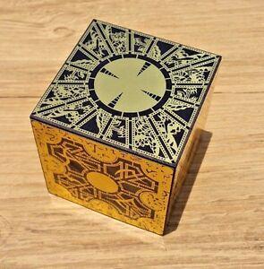 Hellraiser Puzzle Box Solid Wood Lament Cube Foil Face Originator Full Size New