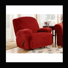 Sure Fit Stretch Sterling Recliner Slipcover in Garnet by sure fit chair cover