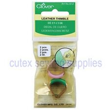 Clover Leather Thimble 2 Pc. Set #612 Sewing Quilting Notions