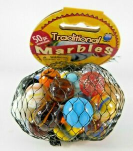 Top Notch/ Vacor/ Mega Marble Net Bag Lot of 50 Glass Marbles Factory Sealed
