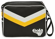Gola Redford Chevron Umhängetasche Tasche Black / Sun / White Schwarz Gelb
