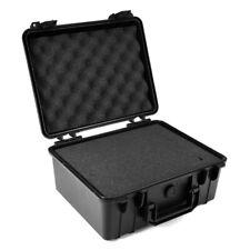 ABS Waterproof Hard Plastic Case Bag Tool Storage Box Organizer + Sponge Black