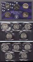 2001-P, D & S CLAD STATE QUARTER PROOF AND MINT SET SET ( 15 COINS )
