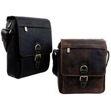 Visconti Leather Mens Messenger Bag - Hunter Collection