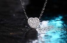 18ct White Gold Stunning Natural VS Diamond Heart Pendant Beauty