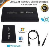 External HDD SSD 2.5inch USB 3.0 Hard Disk Drive Enclosure Case Caddy SATA A²