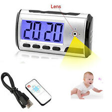 Camera Alarm Clock Micro Hidden Nanny Cam Motion Detection Mini DV DVR Video Spy