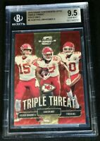 1/1 GOLD VINYL PRIZM PATRICK MAHOMES/TYREEK HILL *BGS 9.5 *2018 Contenders Optic