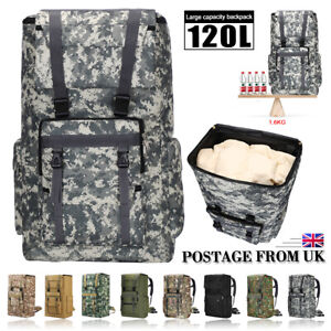 120 Military Tactical Extra Large Hiking Camping Backpack/Rucksack Luggage Bag