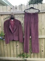 Womens Corduroy Vintage Pant Suit Size Extra Small