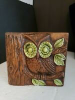 Vintage Ceramic Treasure Craft Owl Napkin Holder MCM retro