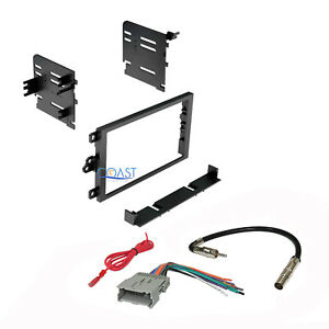 Car Radio Stereo Double Din Dash Kit Harness Antenna for 1992-up GM Chevy Isuzu