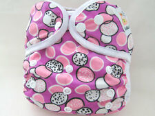 NEW PRINT! Kawaii One Size Happy Leak-Free Snap Closure Diaper Cover, Minky Dots