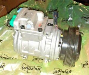 AC Compressor w/Clutch for Doosan Daewoo Moxy Solar 2208-6013B 2208-6013A