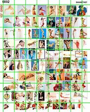 6002 DAVE'S DECALS VINTAGE CLASSIC SEXY PIN UPS FOR GARAGE DIORAMAS and WALL ART