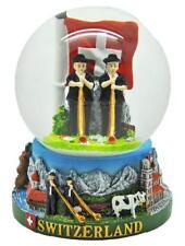 boule de neige XL Alphorn + DRAPEAU Snowglobe Suisse Suisse Souvenir