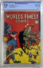 WORLD'S FINEST COMICS #31 CBCS 7.5 Superman Batman 1947 CGC