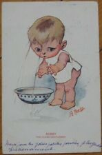 Rowley/Artist-Signed 1913 Postcard: Bobby, The Clean Gentleman