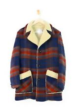 Vintage Wool Blend Plaid Fleece Faux Shearling Winter plus size coat jacket, 18
