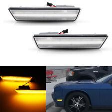 Clear Amber LED Front Side Marker Parking Light 08-14 Dodge Challenger RT SRT8