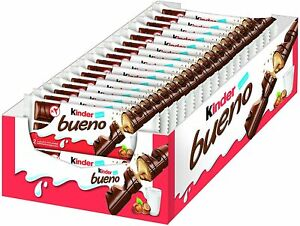 Kinder Bueno 39g Milk Chocolate bars (5,10,15,20) Bars