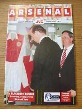 26/02/1994 Arsenal v Blackburn Rovers  (Light Creased)