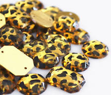 Animal Gems 100 Pieces Sew on Gems Mixed Shapes Flat Back size 6-40mm has holes