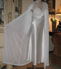 TTO65 - Bridal Nightgown Robe Set SMALL Ivory Satin Bias Gown Sheer Peignoir