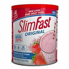 SlimFast Original Strawberries & Cream Meal Replacement Shake Mix – Weight Loss